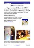 URBRA HB Öppet hus 13/12-12 kl. 10:00-20:00