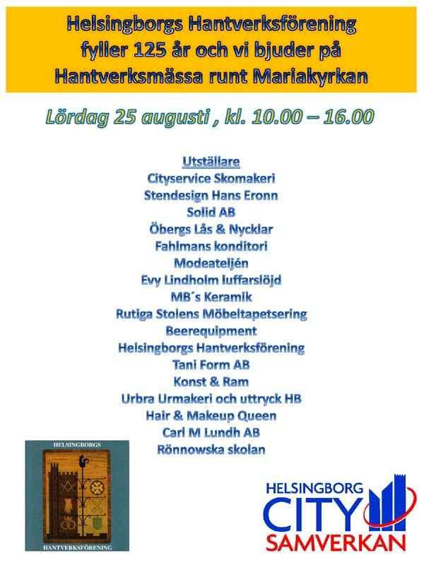 Hantverksmässa Helsingborg Mariakyrkan